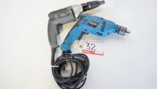 LOT - SENCO & BOLTON ELECTRIC SCREW GUN & IMPACT DRILL (2 PCS)