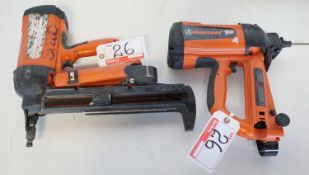 LOT - RAMSET T3 CORDLESS NAILERS - (1 UNIT MISSING TIP)