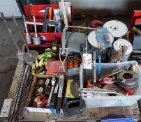 CONCRETE HOLE CORING BITS, HAMMER, STAPLERS, STAGE CORD, & RATCHET STRAPS (1 SKID)