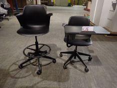 UNITS - ASSTD STEELCASE NODE MOBILE CLASS SEAT W/ TABLET ARM & NODE STOOL