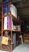 SECTIONS - ORANGE STEEL 4' X 12' X 18'H PALLET RACKING (76 STRINGERS TOTAL) (RIGGING FEE $40 / SECT