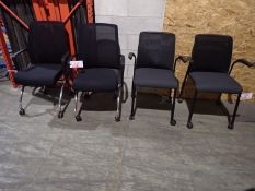 UNITS - AMQ BLACK ASSTD NESTING & STEELCASE REPLY ROLLING GUEST CHAIRS