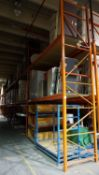 SECTIONS - ORANGE STEEL 4' X 12' X 18'H PALLET RACKING (68 STRINGERS TOTAL) (RIGGING FEE $40 / SECT