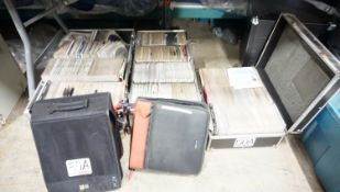 LOT - TRAVEL CASES OF NU MUSIC TRAXX DJ CD COMPILATIONS & BIN OF CATALOGS / MANUALS