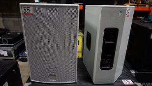 UNITS - DB TECHNOLOGIES FLEXSYS F15 800W DIGITAL ACTIVE SPEAKERS C/W ROLLING HARD CASE