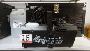 AMERICAN DJ FLURRY SNOW MACHINE W/ SNOW FLUID & HARD CASE