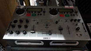 NUMARK KMX02 PROFESSIONAL KARAOKE MIXING STATION W/ TRAVEL CASE