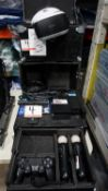 LOT - PLAYSTATION 4 VIDEO GAME CONSOLE C/W VR, 1-CONTROLLER & CASE