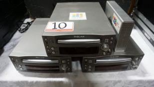 LOT - TASCAM CD-RW4U REWRITABLE RECORDERS (3 UNITS)