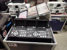 LOT - NUMARK VM03MU2 DVD VIDEO MIXER, LCD SCREENS, DVD PLAYERS C/W HARDCASE C/W CASE OF ASSTD DVDS