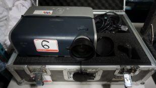 OPTIMA EP758 DLP PROJECTOR C/W LENS, & ROAD CASE