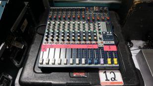 SOUND CRAFT EFX8 8-CH AUDIO MIXER W/ ROAD CASE