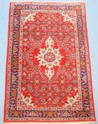 Persischer Mahal,Wolle auf Wolle, gepflegt, 158 x 104cm.,,
