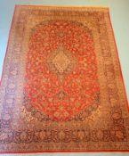 Großer pers. Teppich mit Keshan Muster,kleine Benutzungsspuren, 341 x 229cm.,,