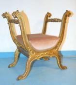 Sitzgondel, Norditalien, 19. Jhd.,Holz, wohl Buche, geschnitzt, gefasst, partiell vergoldet,