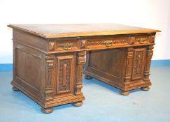 Schreibtisch der Gründerzeit, deutsch um 1890