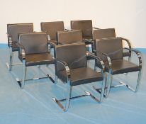 Vier Armsessel Bauhaus Design Stil