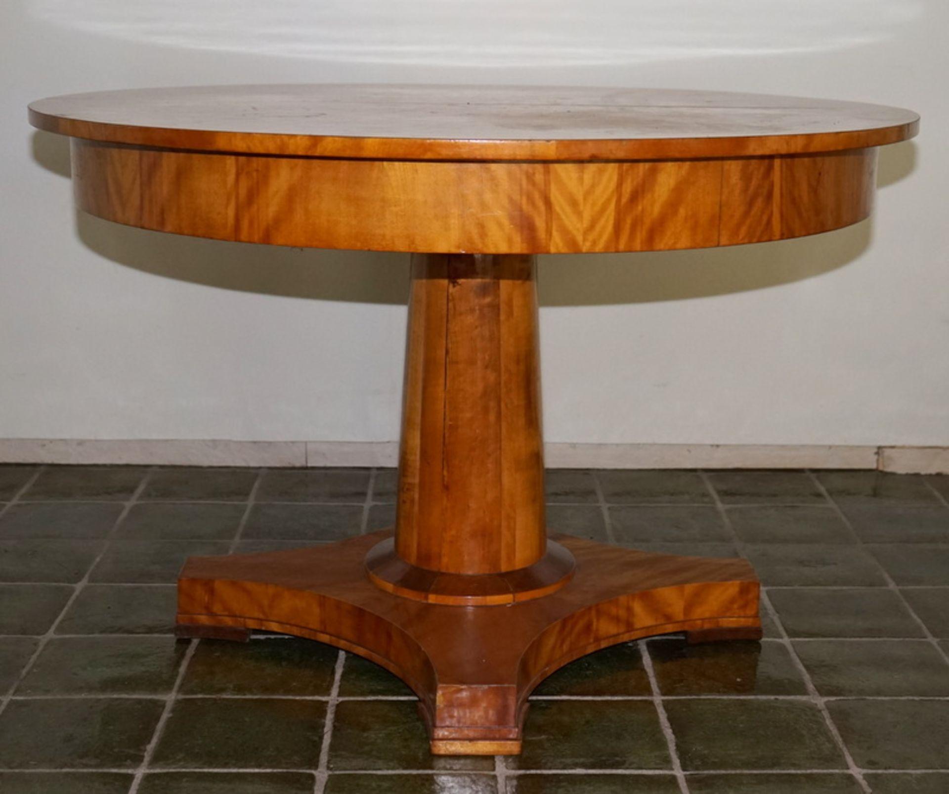 Neo-Biedermeier Esstisch ausziebar Kirsche Furniert - Bild 2 aus 4