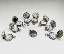 Nine silver keyless full-hunter cased pocket watches. Phillip Wadsworth. Died 2020 Originally from