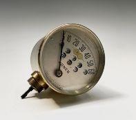 A Jones 60mph speedometer no. 363912 last patent date Sept 22 1908 7.8cm diameter.