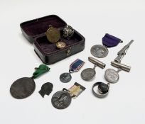 A poignant Boer War collection comprising a lead shot pendant gold-mounted and inscribed Kimberley