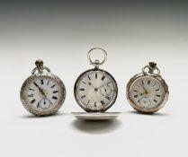 A full hunter silver key wind pocket watch by Bennett Clench Salisbury 29716 48.2mm 90gm London 1880