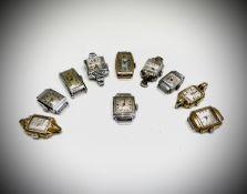 Ten Ladies rectangular watches. Phillip Wadsworth. Died 2020 Originally from Nottinghamshire,