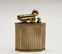 A 9ct gold Karl Weiden cigarette lighter, total weight 52.2gm Condition: Has a new wick but not