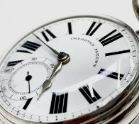 An English Improved Patent fusee silver pocket watch movement no. 6454. London 1870, 53mm.