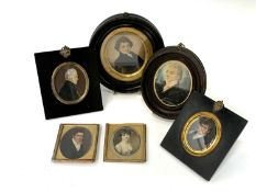 Six portrait miniatures Condition: Several have condition issues as can be seen from the images UK