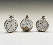 Three keyless pocket watches. Phillip Wadsworth. Died 2020 Originally from Nottinghamshire,