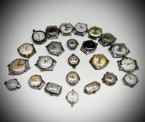 Thirteen gentleman's mechanical wristwatches and eleven ladies mechanical watches. Phillip