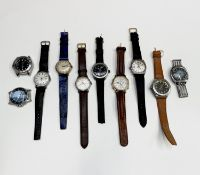 Bag of watches and a watch case UK Postage: £19.56