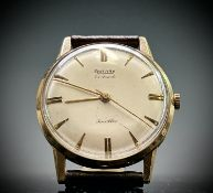 A gentleman's Rotary 9ct gold 17 jewels wristwatch the back inscribed from A&C Jenner Diameter 33.