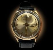 A gentleman's Bulova Accutron gold plated wristwatch with Arabic numerals at 3, 6 and 9 Diameter