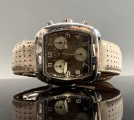 An original Links Of London silver cased chronograph ladies square wristwatch. Boxed UK Postage: £