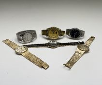Six gentleman's wristwatches. Phillip Wadsworth. Died 2020 Originally from Nottinghamshire,