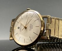 A 9ct gold cased gentleman's Verity Magnificent wristwatch with 17 jewel movement case with 1963