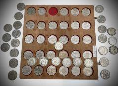Great Britain King George VI Halfcrowns Silver and Cupro nickel & Queen Elizabeth II Comprising 17
