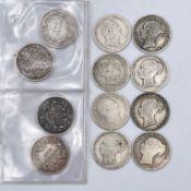 Great Britain 1/- William IV / Victoria 1834-60 (x12) Comprising better grade 1834, 1840, 1851 (