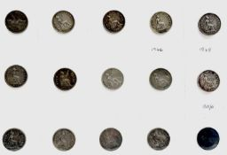 Great Britain - 4d Silver Groats A selection of Groats ranging from F to nEF grade plus an example