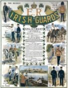 Military and Theatre Framed and Glazed Period Posters/Print. Comprising: 1: Irish Guards Edward