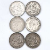 Crowns, 1935 (x6) Mostly VF or better. Condition: please request a condition report if you require