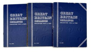 GB Shillings - Whitmans Folders containing a complete run 1902-1966. All in collectable condition