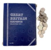 GB Sixpence coins - Whitmans Folder containing a complete run 1937-67 mainly in better condition,