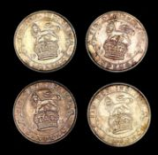 Great Britain Silver 6d George V Pre 1920 - Select examples 1911 - 1916 (x4). 1911 (x1), 1913 (