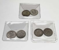Great Britain Silver 6d Queen Victoria - Select examples 1883 - 87. 1883, 1885, 1886, 1887 Young