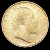Great Britain Gold Sovereign 1908 NEF Edward VII. Melbourne Mint mark Condition: please request a