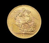 Great Britain Gold Sovereign 1925 EF George V. SA (South Africa-Pretoria mint mark) Condition: