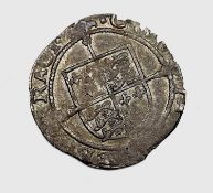 Henry VIII posthumous coinage, York groat, no MM - F+ but slightly clipped. Condition: please